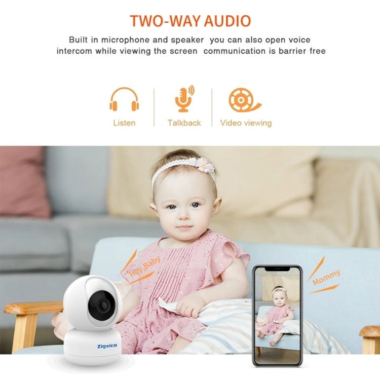 Custom Google and Alexa 360 Degrees  Supports 7 days Free Cloud Storage Wifi Night Vision Cry Baby Monitor