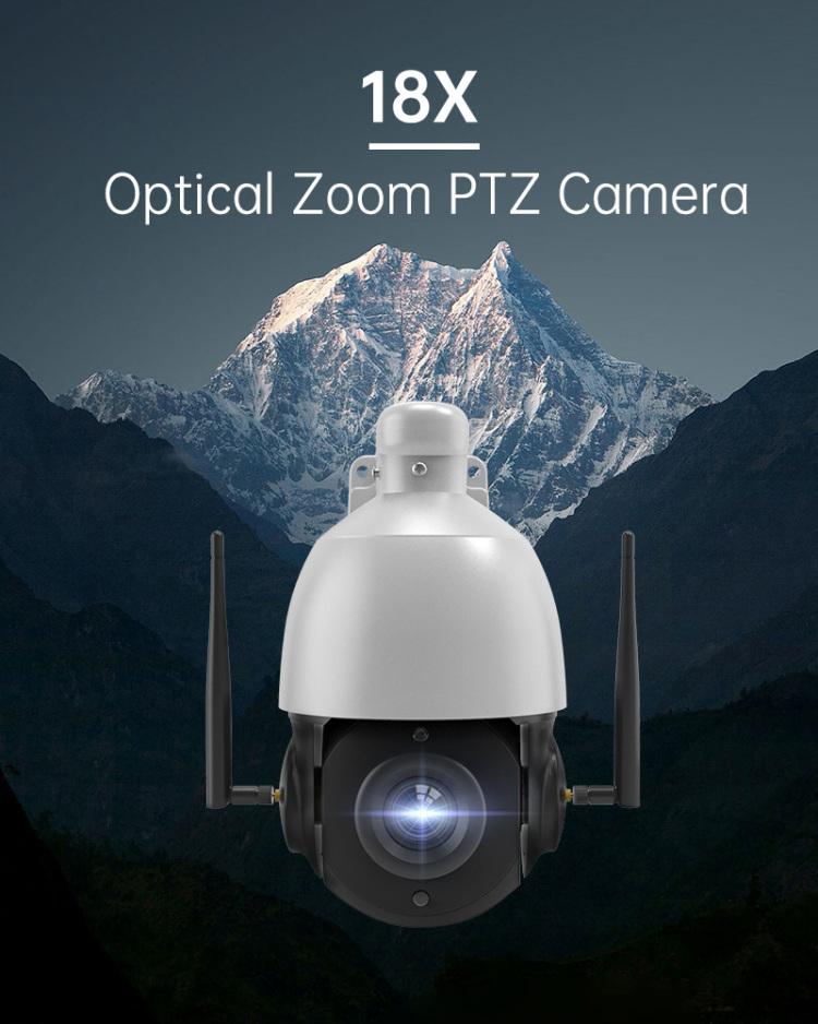 Zigxico Waterproof Smart Outdoor HD 18X Optical Zoom PTZ Dome Camera