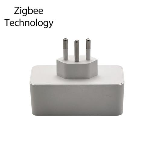 Smart Socket Zigbee Voice Control Smart Home Accessories App Remote Control Brazil Standard Smart Power Plug