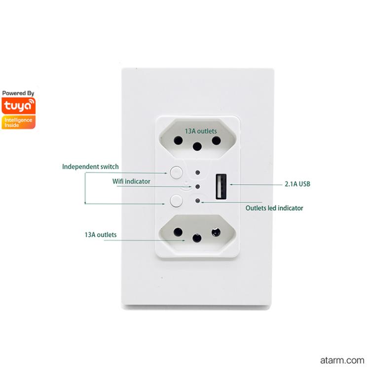 KS-10WBU Smart Wi-Fi Wall Outlet
