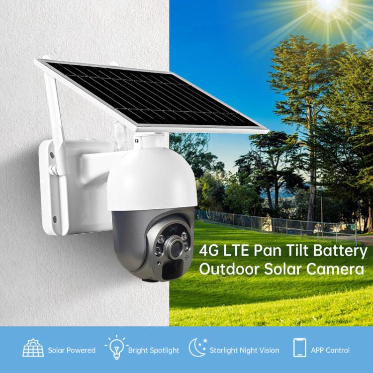 Low Power Waterproof PIR Factory PTZ  Security WIFI 4G Solar Camera