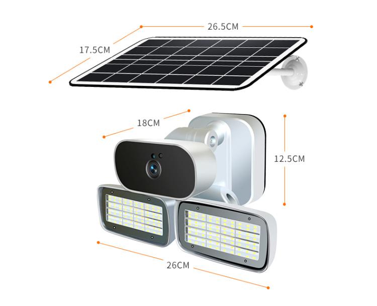 IP66 1080P  Solar floodlight camera  C2