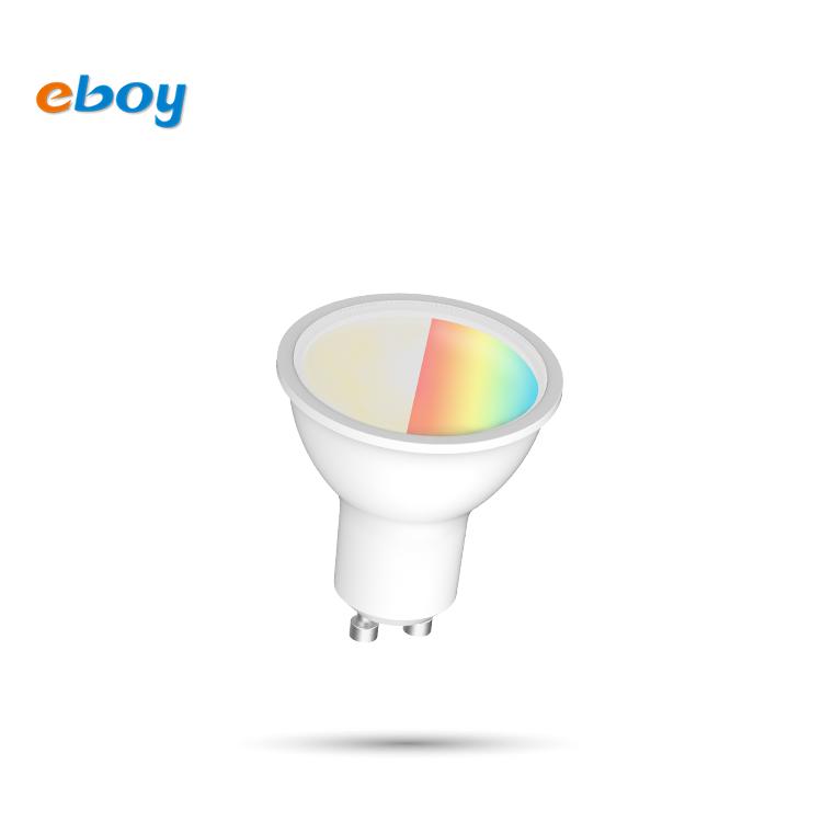 GU10 4.5W RGB+W wifi+ble smart LED bulb