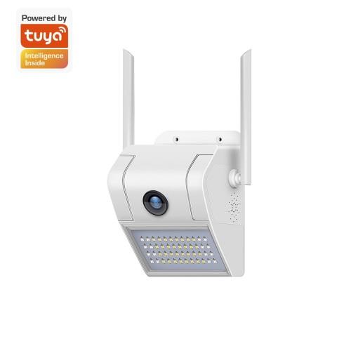 Tuya Smart Life CCTV Wireless Security Network Courtyard Camera Outdoor Waterproof Wifi Floodlight Camera