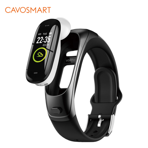 Bluetooth Call Earphone & Smart Band 2 in 1 Heart Rate AAC Sound Quality Earbud Smart Bracelet Smart Watch