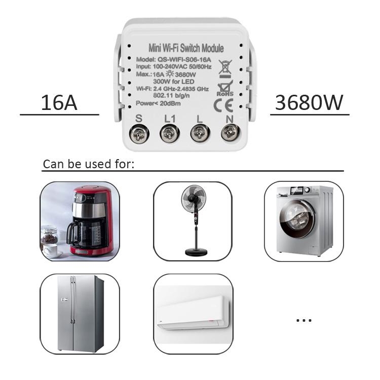 16A Mini Wi-Fi Switch Module