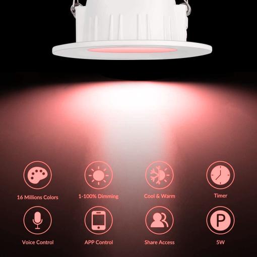 Tuya Smart BT U.S. downlight mobile phone APP smart audio remote control (main light)