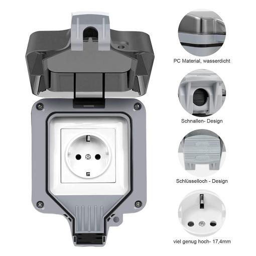 Smart App Remote Control EU Outdoor Waterproof Outlet