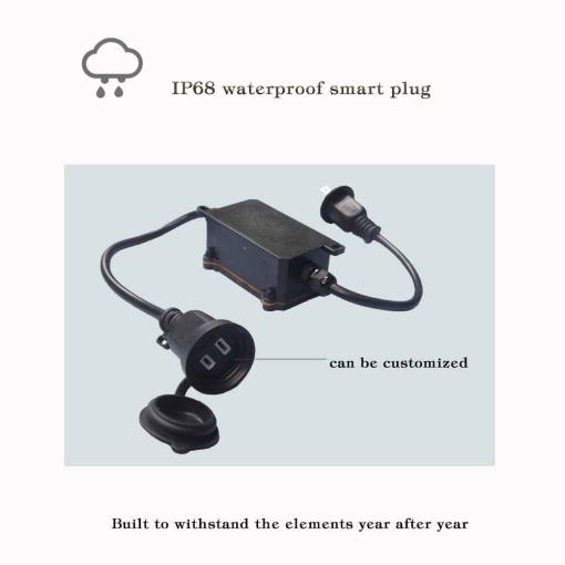 Japan Type Smart Wi-Fi Waterproof IP44 Industrial Outdoor Plug