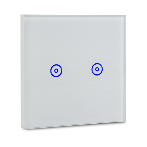 UK/EU Smart Wi-Fi  Wall Galss Touch Switch 2Gang