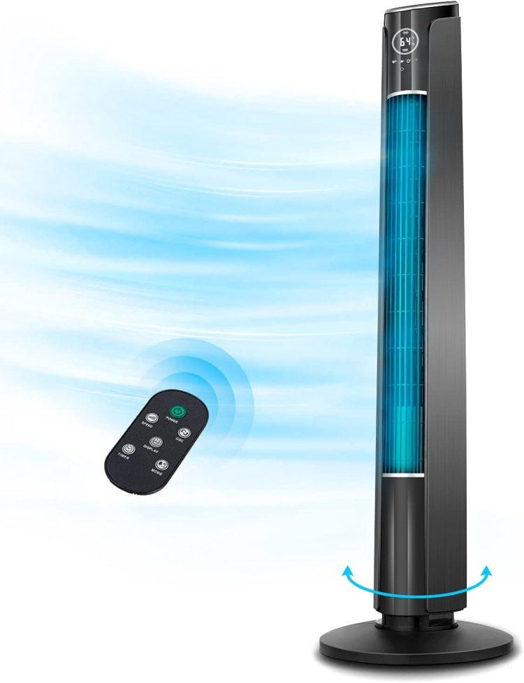Sensor Touch Buttons Whole Room Tower Fan Tower Fan Air Cooling Swing Motor Tower Fan