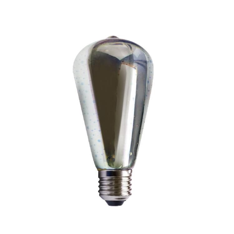 SMD 3D ST64 3W RGB Bulb