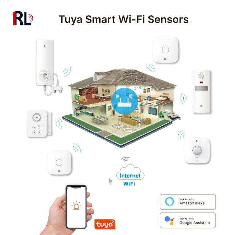 Tuya Smart Wi-Fi PIR Motion Sensor Wireless Infrared Detector Security Burglar Alarm Sensor