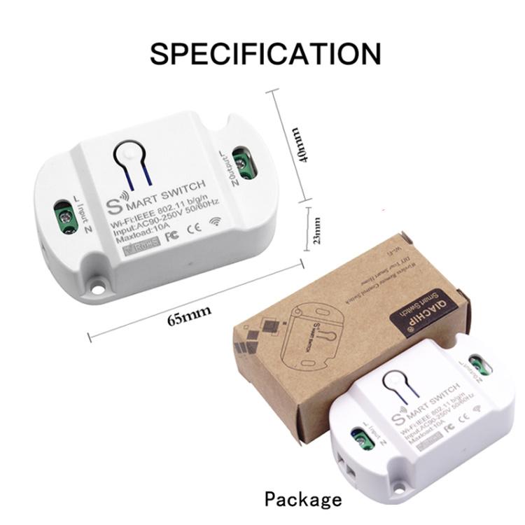 RODOT KR2201WB Wi-Fi Wireless Smart Switch For Tuya&Smart Life App