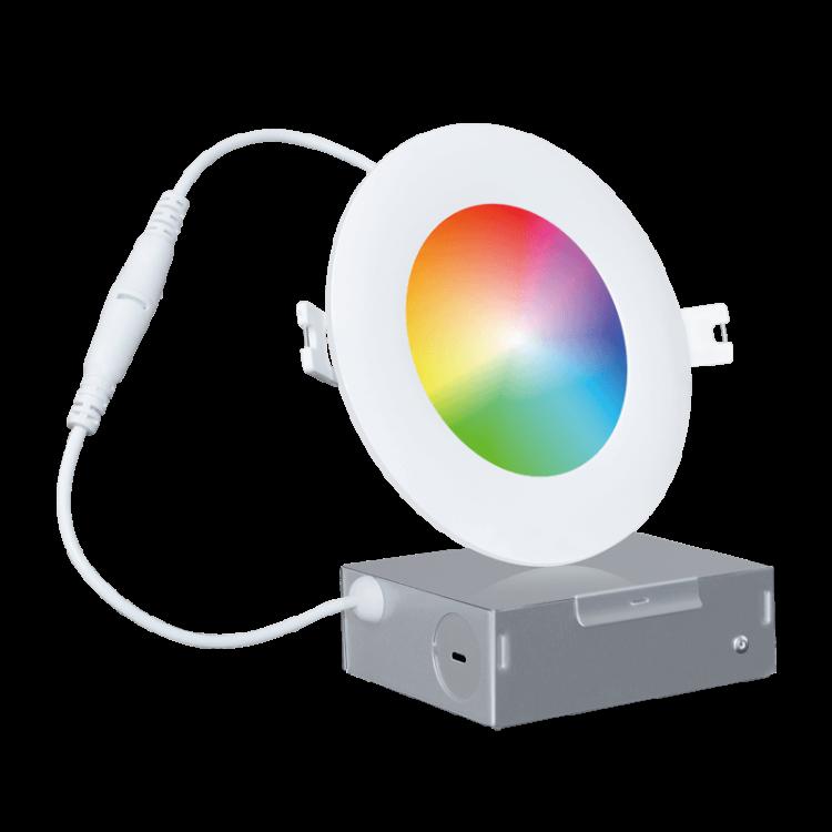 Wi-Fi RGBCW LED Recessed Slim Downlight 4'' Pearl Series