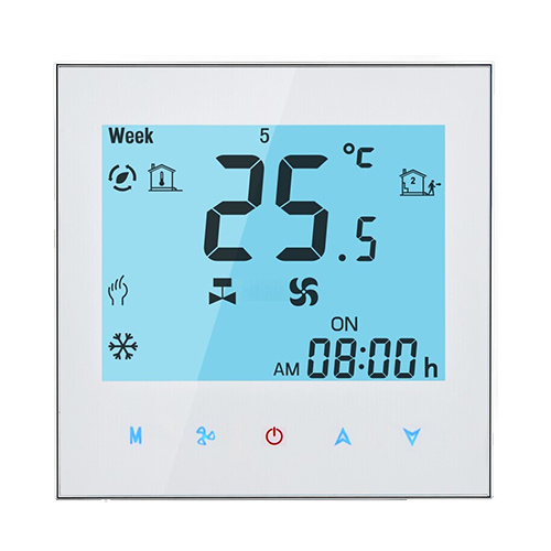 Fan Coil Thermostat Digital Programmable Temperature Regulator Indoor Digital Graffiti Wireless Wifi Controller for HVAC