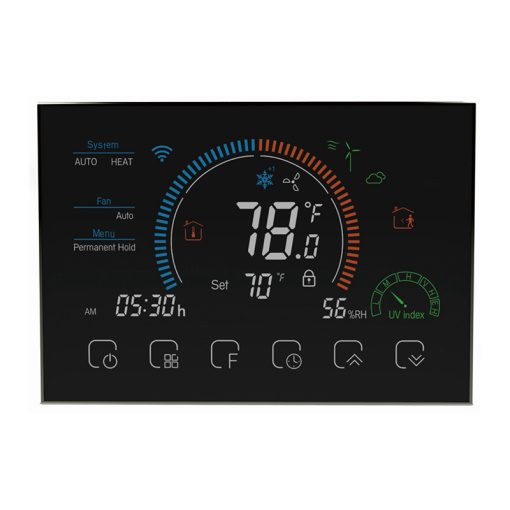 Wifi smart weekly programming touch button to control the temperature floor heating thermostat_copy
