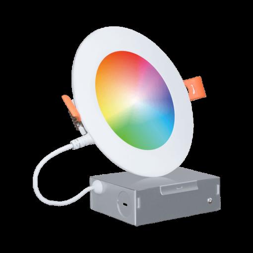Wi-Fi RGBCW LED Recessed Slim Downlight 4'' 03series