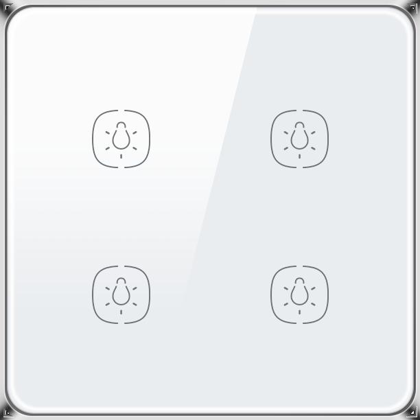 Zigbee Lighting Switch 4 Gang