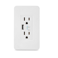 US Wall Outlet With USB