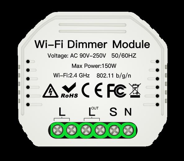 Hidden Wi-Fi Smart Dimmer Switch Module
