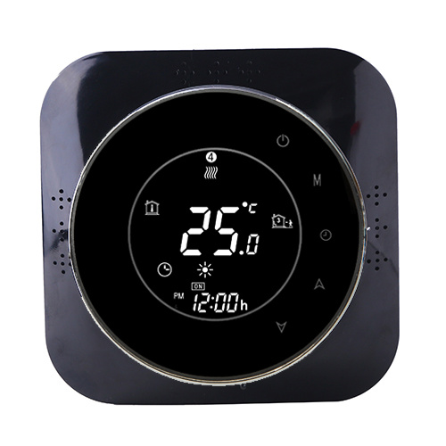 Wireless heating thermostat temperature adjustment controller LCD touch button digital indoor heat pump thermostat
