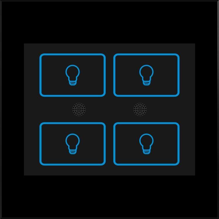 Zigbee 4 Gang Lighting Switch