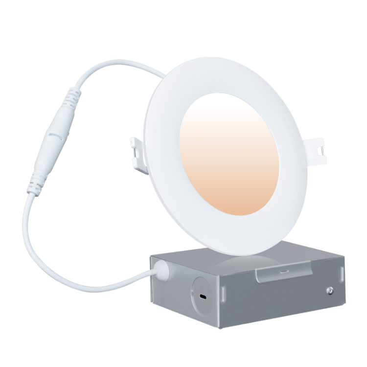 WiFi CCT Tunable LED Recessed Slim Downlight 4'' Pearl series