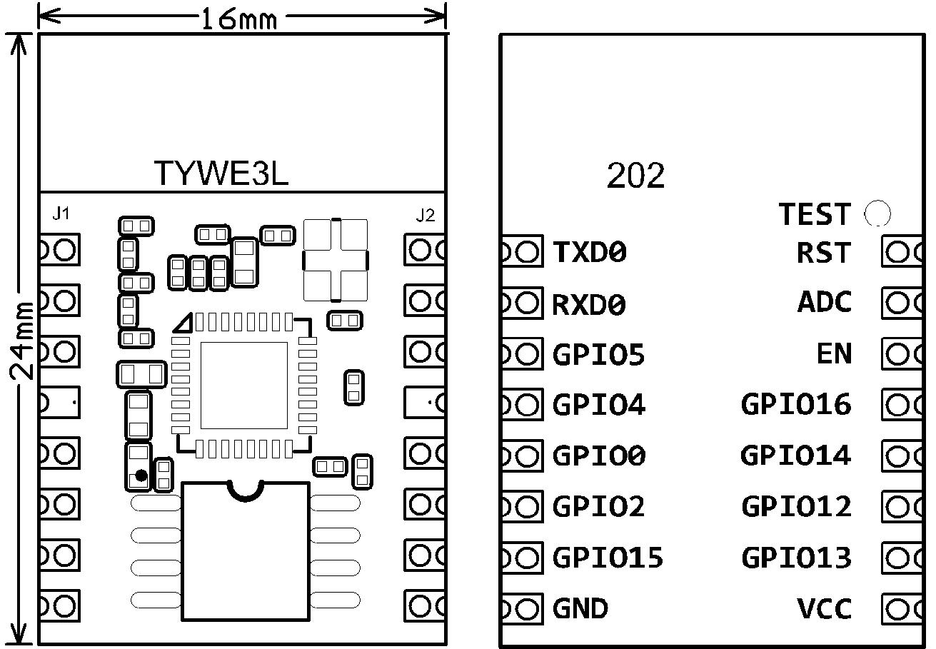 TYWE3L Module Datasheet